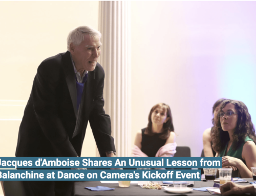 Dance Teacher: Jacques d'Amboise Shares An Unusual Lesson from Balanchine at Dance on Camera's Kickoff Event